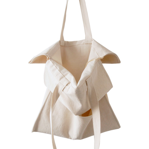 cotton shirring bag-ivory