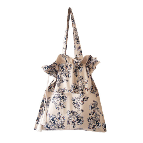 short shirring bag-daisy