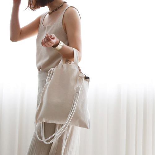 cream cotton bag_ivory