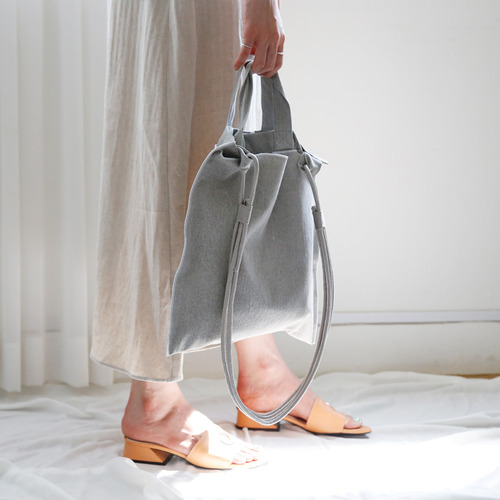 cream cotton bag_gray