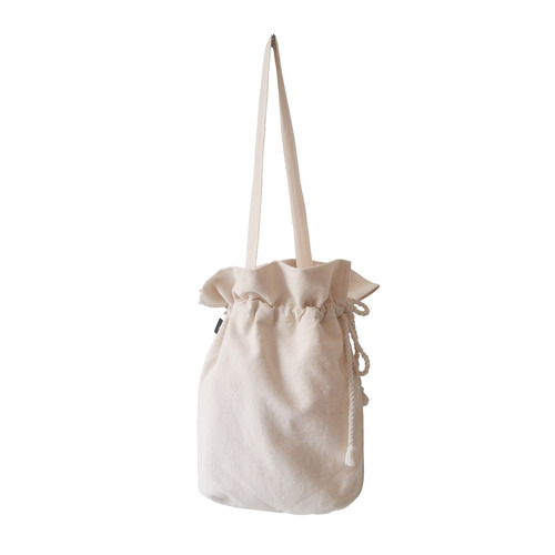 (재고소진sale) cotton bucketbag_ivory
