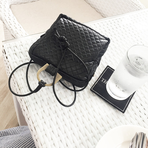 quilting mini pouch&bag _black(8월1일재입고 예정)