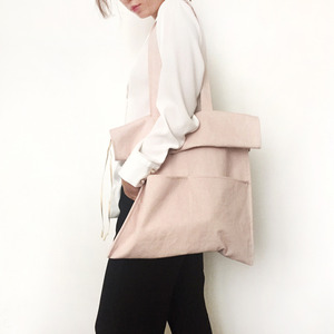 cotton shirring bag-pink
