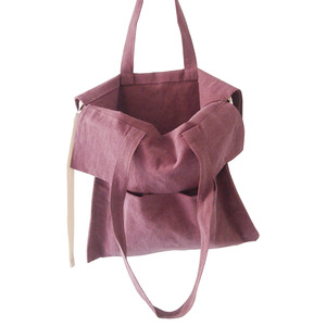 (new5%)cotton shirring bag-purple