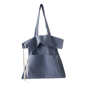 (new5%)cotton shirring bag-bule