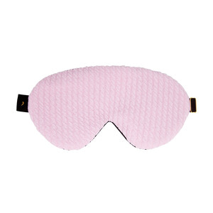 twiddle knit sleep mask_pink