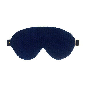 twiddle knit sleep mask_navy