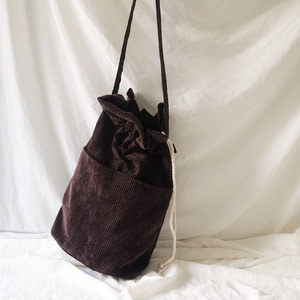 corduroy bucketbag_brown