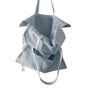 (재고소진sale) cotton shirring bag-sky