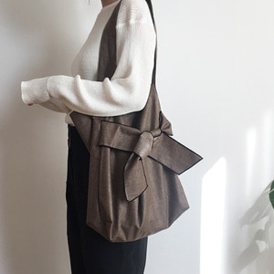 ribbon bag _brown