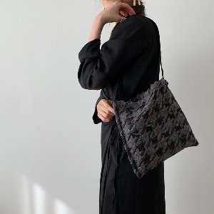 (new5%) wool simple bag_ hound B