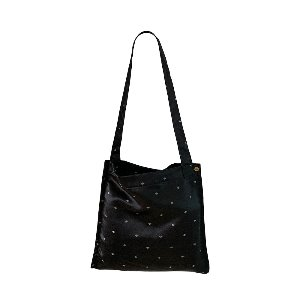 (new5%) silk simple bag_black