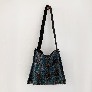 (new5%) wool simple bag_ theot