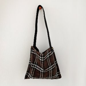 (new5%) wool simple bag_ dak