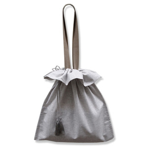 (재고소진sale)shirring bag2 (gray)