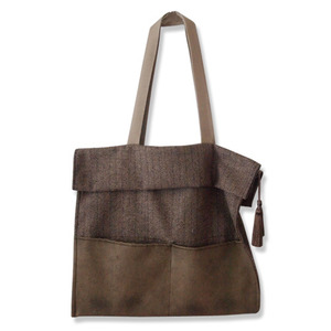 herringbone shirring bag