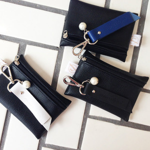 (SALE)1st_cn_leather key ring_pearl(교환환불X)