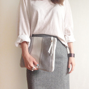 (sale)warm big pouch_gray(교환환불X)
