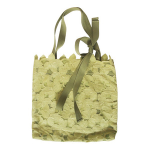 girl ribbon bag-olive